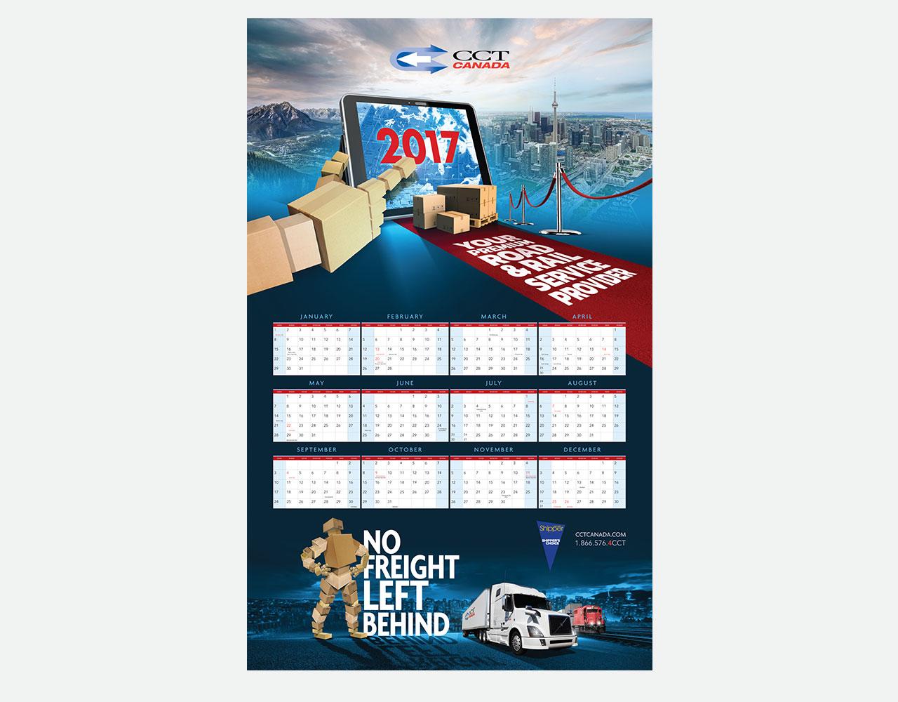 Palmer Marketing calendar design